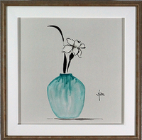 Narcissus in Teal Vase
