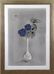 blue in white vase